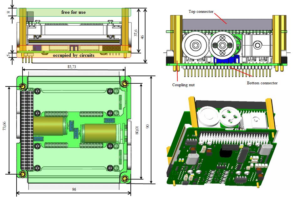 Габаритный чертеж модуля